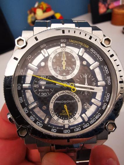 Imperdível Barato Demais - Lindo Relógio Bulova Precisionist Original 96b175 C877746