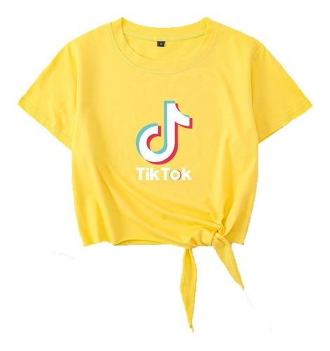Imagen 1 de 3 de Tik Tok Manga Corta Algodón Ins Camiseta
