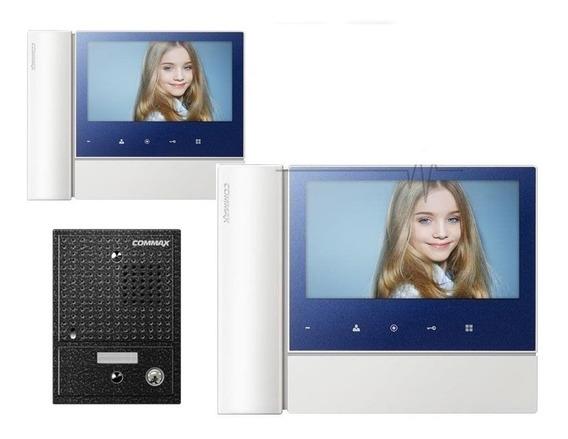 Portero Eléctrico Visor Commax Cdv 70n + 2 Monitores 7