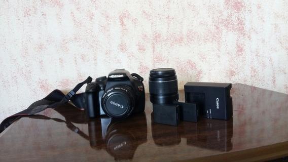 Canon T3 + 2 Baterias + Lente 50mm + Lente 18-55