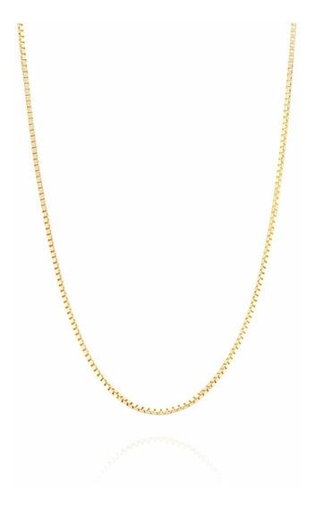 Promoção Corrente Cordão Veneziana 70cm Ouro 18k 750 Maciço