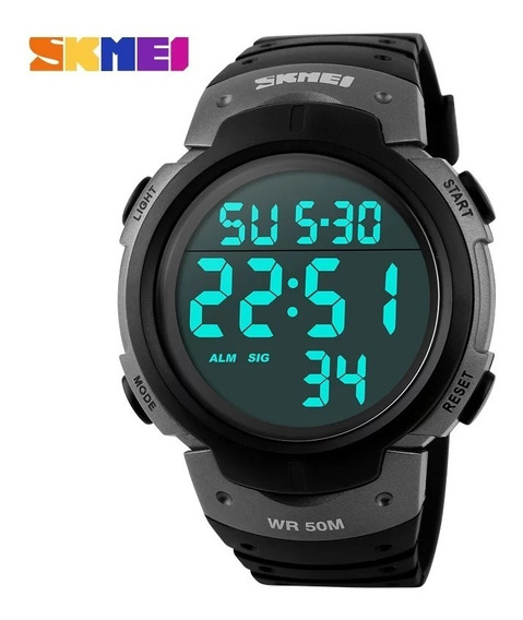 Relógio Skimei 1068 Display Led Esporte Prata Original