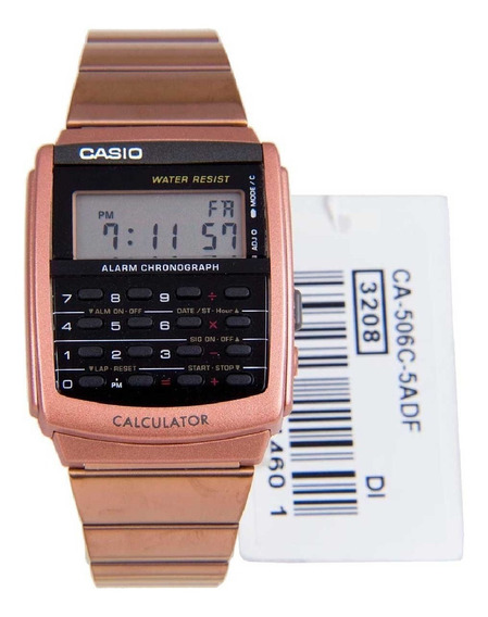 Relógio Casio Masculino Vintage Calculadora Ca-506c-5adf