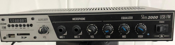 Amplificador Para Som Ambiente Frahm Slim 2000 Usb/fm