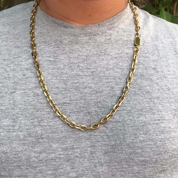 Cordão Corrente Cartier Masculino Banhado A Ouro 18k