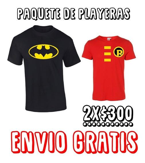 Duo De Playeras Papa E Hijo Batman Y Robin