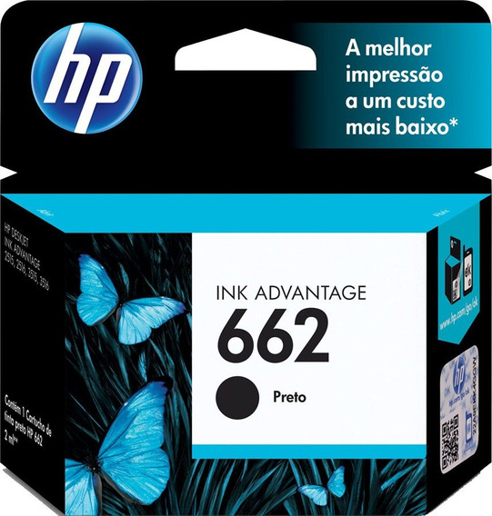 Cartucho Ink Advantage 662 Cz103ab Preto - Hp