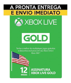 Xbox Live Gold 12 Meses Americana