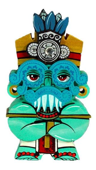 Figura Artesanal Coleccionable 10 Cm Dios Tlaloc Neogrfaika