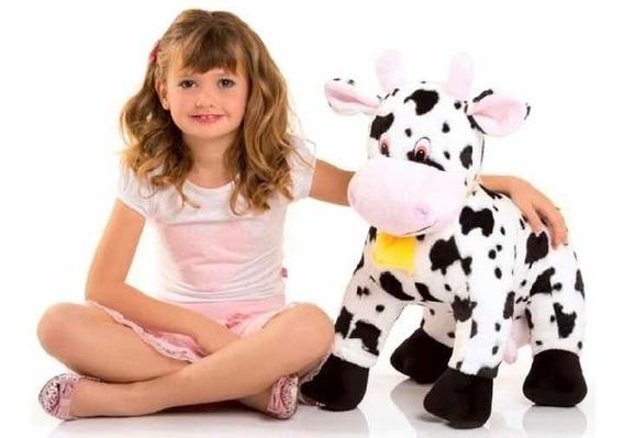 Vaca De Pelúcia 60 Cm.