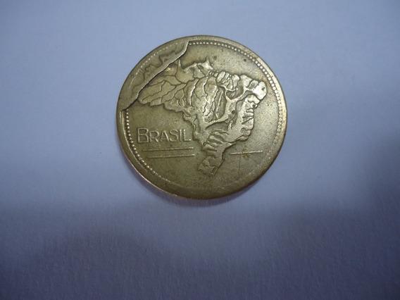 Moeda Bronze 1 Cruzeiro 1949 Mapa Hidrografia Brasil Defeito