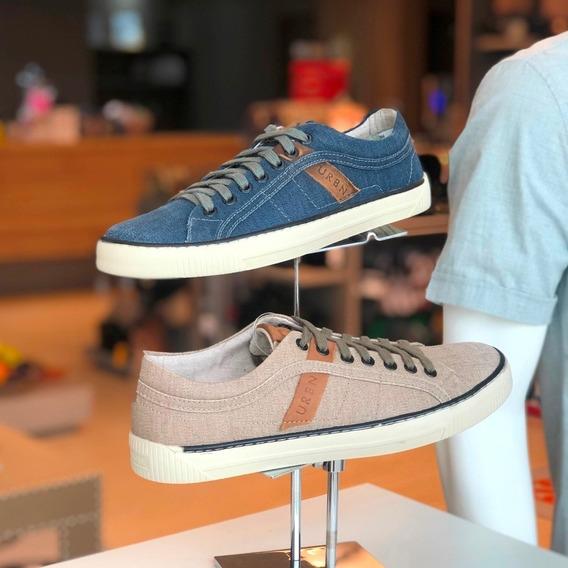 Sapatênis Democrata Urban Azul Jeans E Bege - Verão 20 - B M