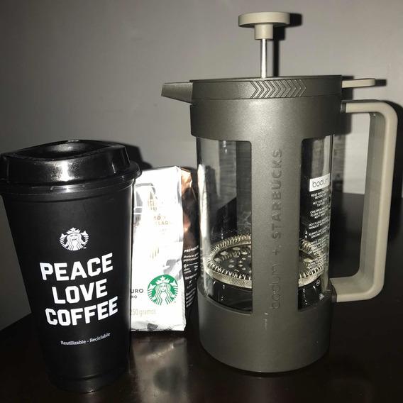 Bodum Starbucks Cafetera Prensa Francesa Con Vaso De Regalo