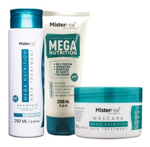 Kit Mega Nutrition Shampoo, Máscara E Condicionador