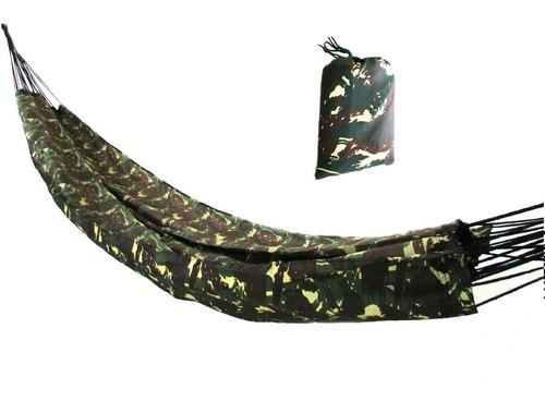 Rede De Dormir Selva Nylon Camuflada Militar Camping