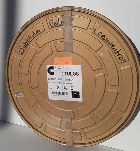 Lata De Peliculas 35mm Cine Con Peliculas Y Documentos