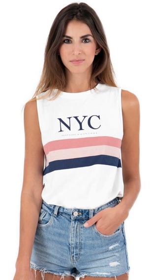 Camiseta Flashy Estampada Nyc Mujer