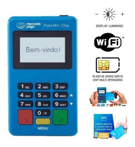 Point Mini Chip Máquina De Cartão Mercado Pago 4g Wifi
