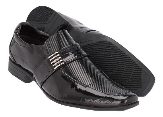 Sapato Social Masculino Em Verniz Ref :197