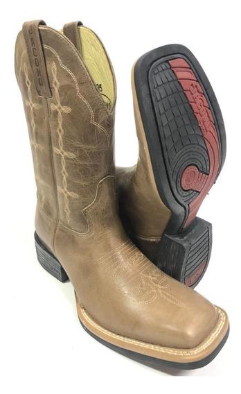 Bota Texana Masculina Country Jacomo Rústica Bico Quadrado