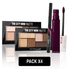 Pack Maquillaje Ojos Y Labios Maybelline New York