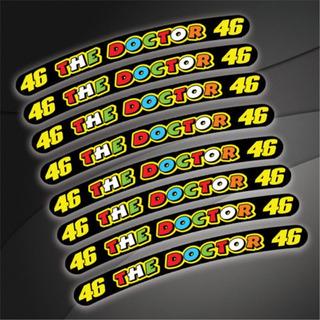 **8 Pegatina,calcomanias 46 Vr46 Valentino Rossi Para Rines