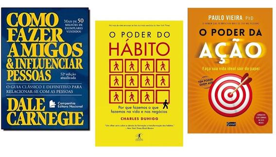 O Poder Da Ação+o Poder Do Hábito+1 Livro Frete Grátis
