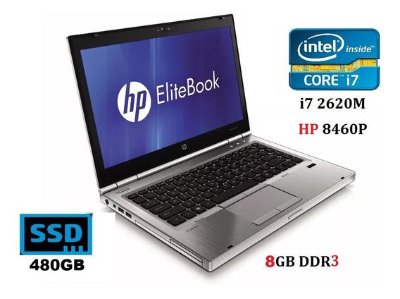 Notebook Intel Hp I7 8gb Ssd 480gb 8460 Garantia E Promoção
