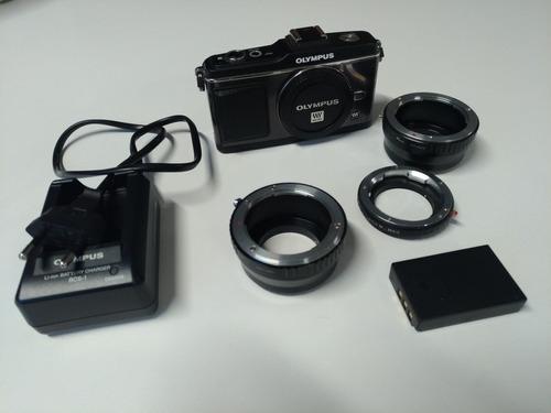Camera Fotográfica Olympus Pen E-p2 Micro 4/3 Com Brindes!