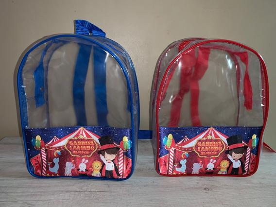 Bolsas Personalizadas, Lembrancinhas - 30 Mochi Transparente