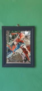 Cuadro Con Dibujo Realista De Spiderman Ps4 De 25.3×18.3 Cm