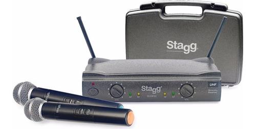 Sistema Inalámbrico Con 2 Micrófonos De Mano Stagg Suw50mm