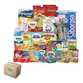 Cesta Básica Alimentos + Higiene (46 Itens) - Frete Grátis