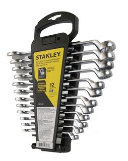 Juego 12 Llaves Combinadas Acodadas Stanley Stmt97569