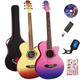 Guitarra Electroacustica Gypsy Rose Funda Correa Afinador