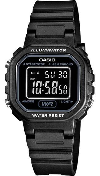 Relogio Casio Feminino Iluminator La-20wh 1bdf Preto Digital