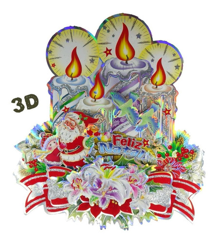 Imagem 1 de 3 de Mini Painel De De Natal Cartonado Dupla Face