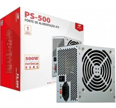 Fonte Atx 500w Real 24 Pinos C3tech