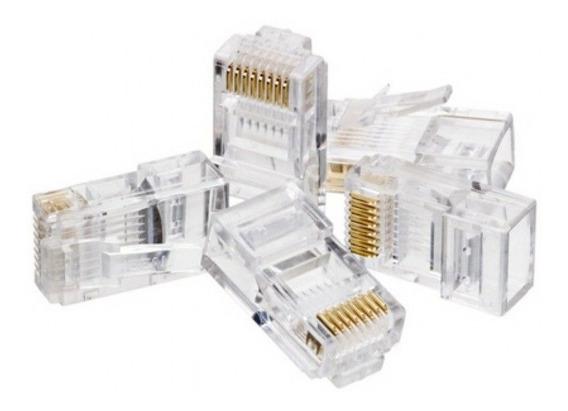 Conector Rj 45 Cat6 Com 20 Unidades
