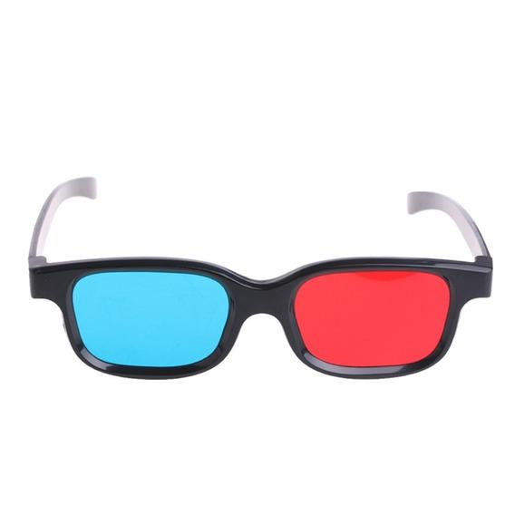 Óculos Anaglyph 3d Azul Vermelho Quadro Preto Para Filme Jog