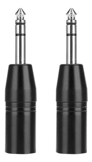 Adaptador 2pcs 6.35mm Enchufe Estéreo A Xlr Macho Jack Conec