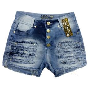 Roupas Femininas Atacado Shorts Jeans Com Lycra 34 Ao 44