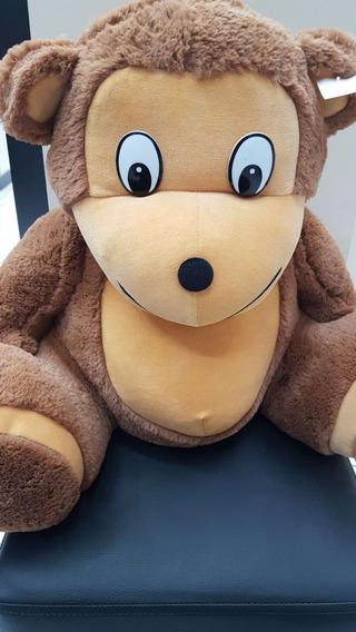 Macaco Pelucia Brinquedo Presente 50cm Medio Disney Marrom
