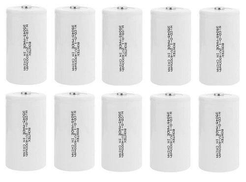 Baterias Recarregáveis Grande Tipo D 4000 Rontek - 10 Peças