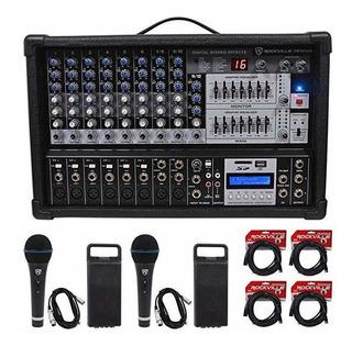 Rockville Rpm109 4800w 12-ch. Potenciados Pro Mixing Ampli ®