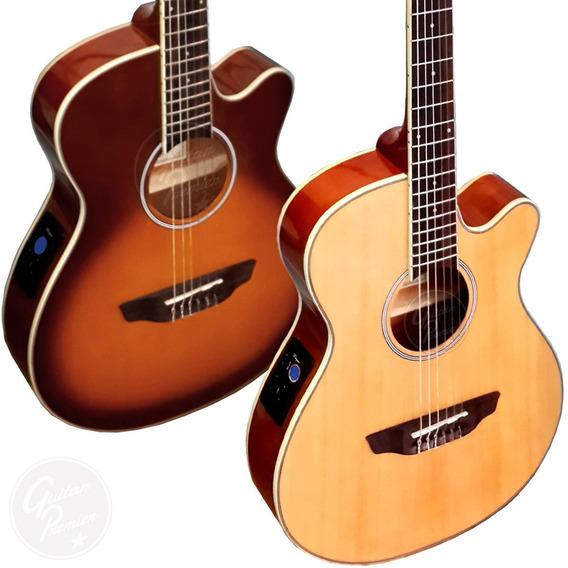 Guitarra Electroacustica Nylon Media Caja Eq Afinador Funda