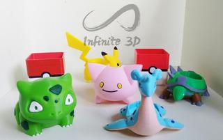 Macetas Pokemon - Pikachu Bulbasaur Torterra - Impresión 3d