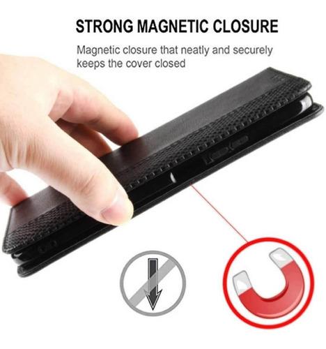 con Tapa Magn/ética Carcasa para Samsung Galaxy A51 Case Negro Vintage de Billetera Cuero de la PU Mulbess Funda Samsung Galaxy A51 Libro Caso Cubierta