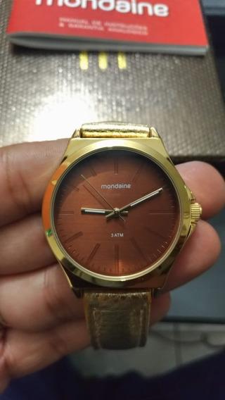 Relógio Feminino Analógico Mondaine Marrom 76674lpmvdh1k