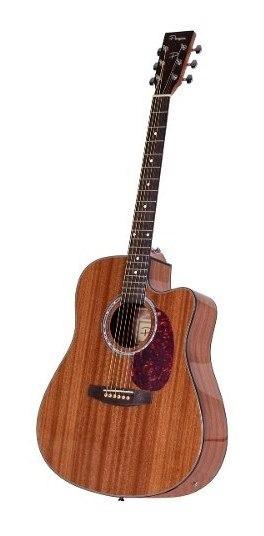 Guitarra Electroacustica Parquer Vintage Caoba Funda Cuota